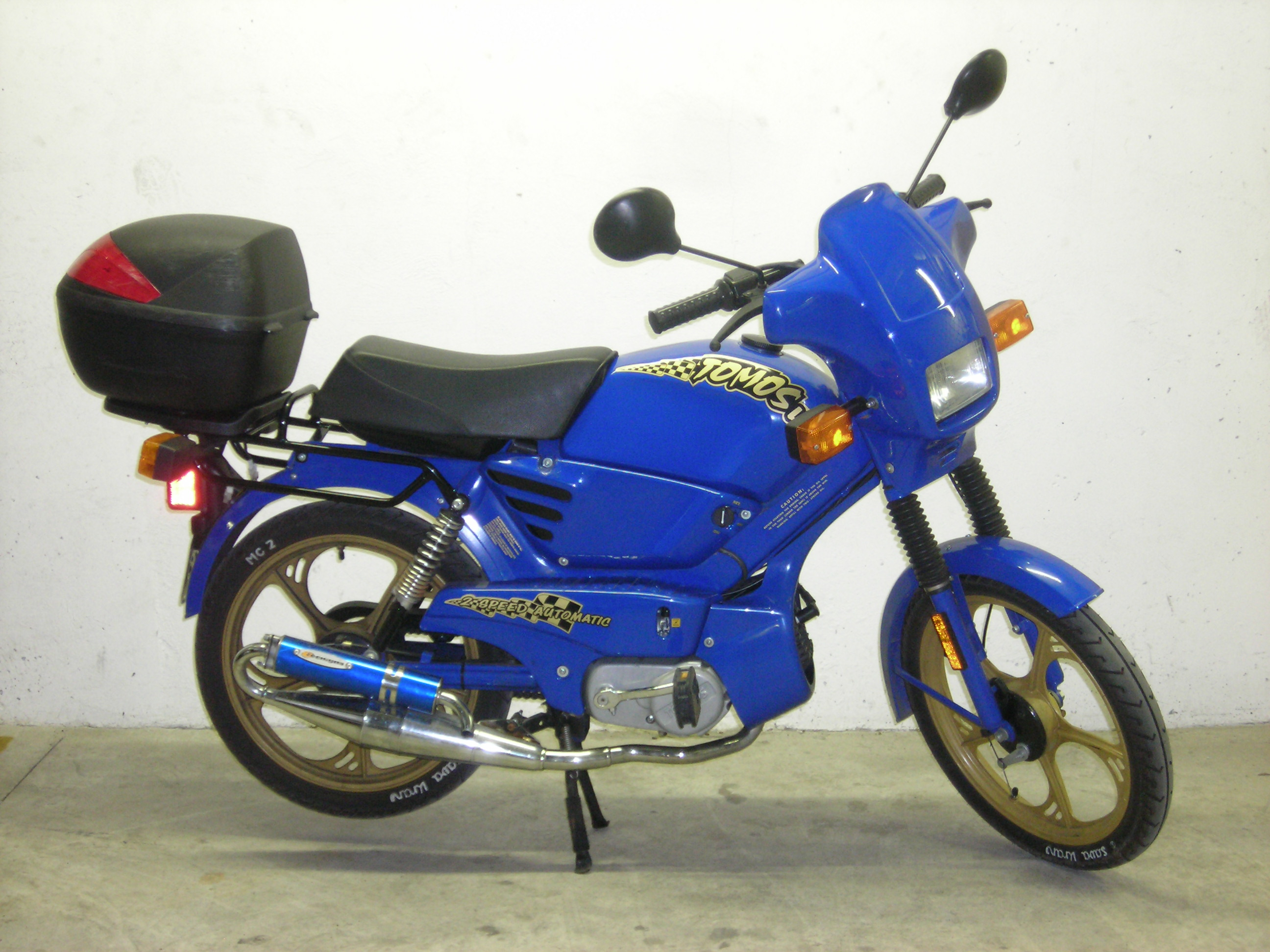 My moped. Notice