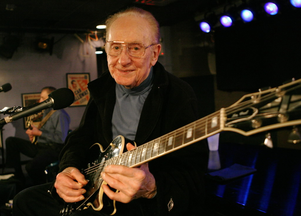 Les Paul, inventor of the electric guitar.