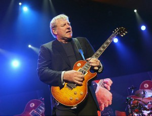 "LAS VEGAS - MAY 10: Rush guitarist Alex Lifeson performs at the Mandalay Bay Events Center on May 10, 2008 in Las Vegas, Nevada. The rock trio are touring in support of the album, ""Snakes & Arrows."" (Photo by Ethan Miller/Getty Images) Original Filename: 81050582.jpg"